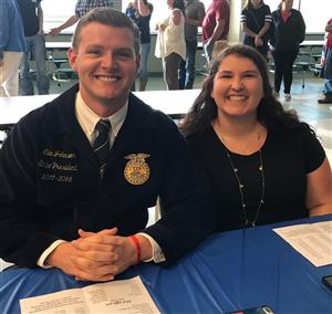 Sarah Harkey and FFA State President
